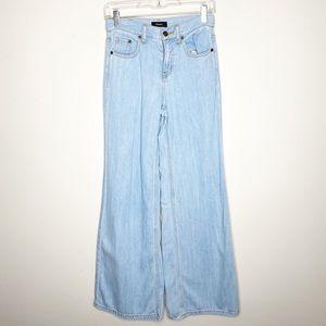 Theory Super Wide Leg High Rise Denim Jeans 23